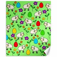 Easter lamb Canvas 11  x 14