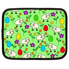 Easter lamb Netbook Case (Large)