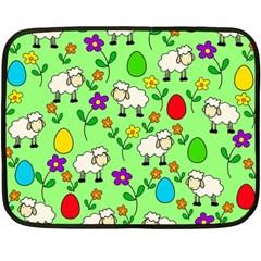 Easter lamb Fleece Blanket (Mini)