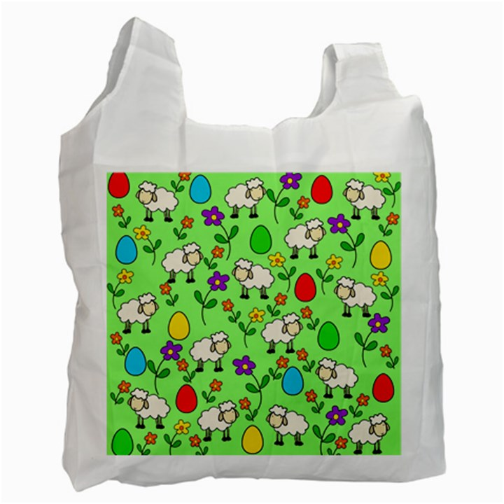 Easter lamb Recycle Bag (One Side)