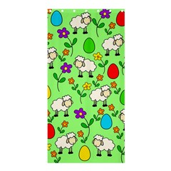 Easter lamb Shower Curtain 36  x 72  (Stall)