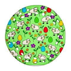 Easter lamb Ornament (Round Filigree)