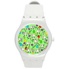 Easter lamb Round Plastic Sport Watch (M)