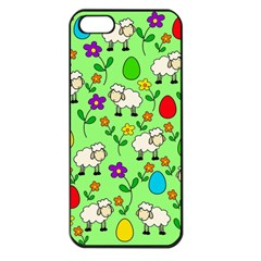 Easter lamb Apple iPhone 5 Seamless Case (Black)