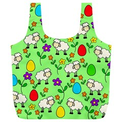 Easter lamb Full Print Recycle Bags (L)