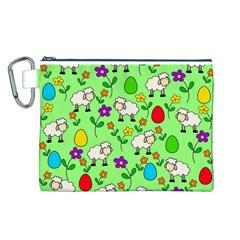 Easter lamb Canvas Cosmetic Bag (L)