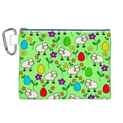 Easter lamb Canvas Cosmetic Bag (XL)