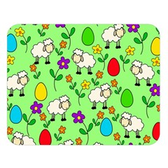Easter lamb Double Sided Flano Blanket (Large)