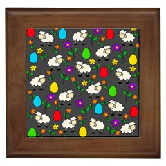 Easter lamb Framed Tiles