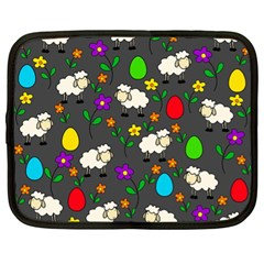 Easter lamb Netbook Case (XL)