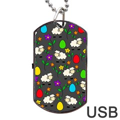 Easter lamb Dog Tag USB Flash (Two Sides)