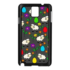 Easter lamb Samsung Galaxy Note 3 N9005 Case (Black)