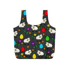 Easter lamb Full Print Recycle Bags (S)