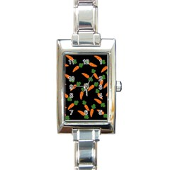 Carrot pattern Rectangle Italian Charm Watch