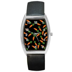 Carrot pattern Barrel Style Metal Watch
