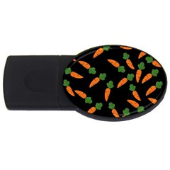Carrot pattern USB Flash Drive Oval (4 GB)