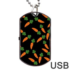 Carrot pattern Dog Tag USB Flash (Two Sides)
