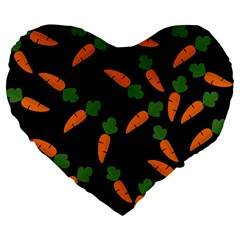 Carrot pattern Large 19  Premium Heart Shape Cushions