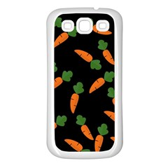 Carrot pattern Samsung Galaxy S3 Back Case (White)