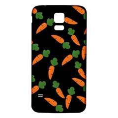 Carrot pattern Samsung Galaxy S5 Back Case (White)