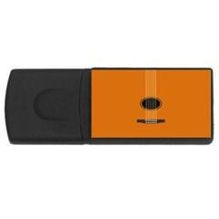 Minimalism Art Simple Guitar USB Flash Drive Rectangular (1 GB)