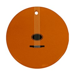 Minimalism Art Simple Guitar Round Ornament (Two Sides)