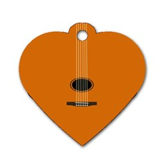 Minimalism Art Simple Guitar Dog Tag Heart (Two Sides)