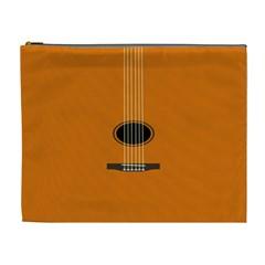Minimalism Art Simple Guitar Cosmetic Bag (XL)