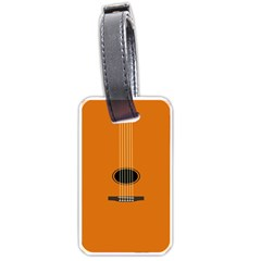 Minimalism Art Simple Guitar Luggage Tags (One Side)