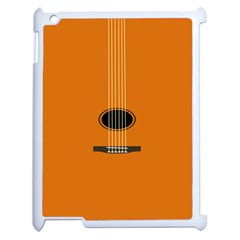 Minimalism Art Simple Guitar Apple iPad 2 Case (White)