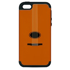 Minimalism Art Simple Guitar Apple iPhone 5 Hardshell Case (PC+Silicone)