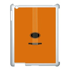 Minimalism Art Simple Guitar Apple iPad 3/4 Case (White)