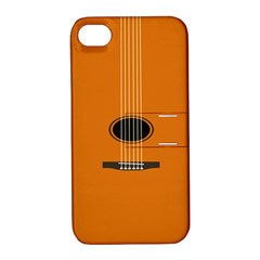 Minimalism Art Simple Guitar Apple iPhone 4/4S Hardshell Case with Stand