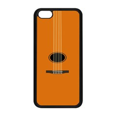 Minimalism Art Simple Guitar Apple iPhone 5C Seamless Case (Black)