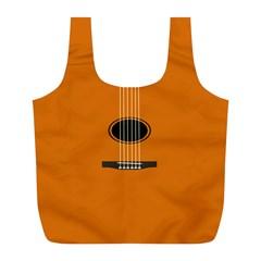 Minimalism Art Simple Guitar Full Print Recycle Bags (L)
