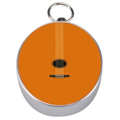 Minimalism Art Simple Guitar Silver Compasses