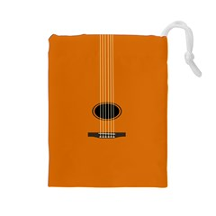 Minimalism Art Simple Guitar Drawstring Pouches (Large)
