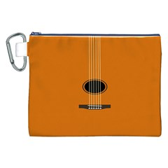 Minimalism Art Simple Guitar Canvas Cosmetic Bag (XXL)