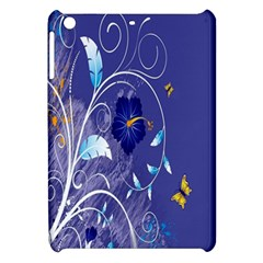 Flowers Butterflies Patterns Lines Purple Apple iPad Mini Hardshell Case