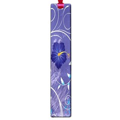 Flowers Butterflies Patterns Lines Purple Large Book Marks