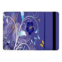 Flowers Butterflies Patterns Lines Purple Samsung Galaxy Tab Pro 10.1  Flip Case
