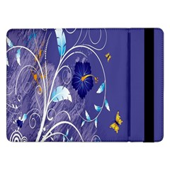 Flowers Butterflies Patterns Lines Purple Samsung Galaxy Tab Pro 12.2  Flip Case