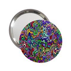 Colorful Abstract Paint Rainbow 2.25  Handbag Mirrors
