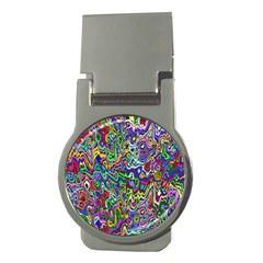 Colorful Abstract Paint Rainbow Money Clips (Round)