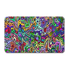 Colorful Abstract Paint Rainbow Magnet (Rectangular)