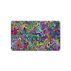 Colorful Abstract Paint Rainbow Magnet (Name Card)