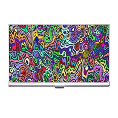 Colorful Abstract Paint Rainbow Business Card Holders