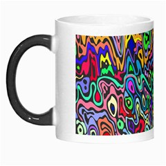 Colorful Abstract Paint Rainbow Morph Mugs