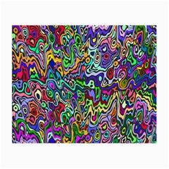 Colorful Abstract Paint Rainbow Small Glasses Cloth