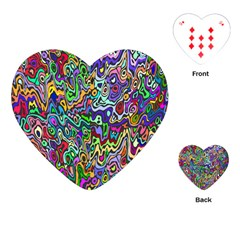 Colorful Abstract Paint Rainbow Playing Cards (Heart)